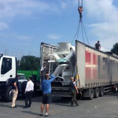 Автобетоносмесители IMER доставили в Киев на стандартных тентованных полуприцепах
