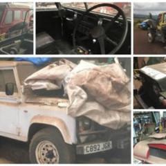 В Шотландии обнаружен раритетный подъемник Land Rover и аэродромный тягач Rolls-Royce