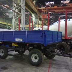 ТЗА представил новый двухосный тракторный прицеп